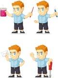 Customizable maskot 12 för röd manlig elevrepresentant Royaltyfria Foton
