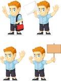 Customizable maskot 18 för röd manlig elevrepresentant Arkivbilder