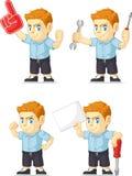 Customizable maskot 19 för röd manlig elevrepresentant Royaltyfri Foto