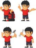 Customizable maskot 11 för fotbollpojke Arkivbilder