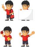 Customizable maskot 13 för fotbollpojke Royaltyfria Bilder