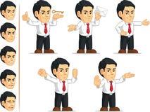 Customizable maskot 13 för kontorsarbetare Arkivbild