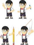 Customizable maskot 12 för Nerdpojke Arkivfoto