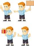 Customizable maskot 15 för röd manlig elevrepresentant Fotografering för Bildbyråer
