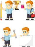 Customizable maskot 11 för röd manlig elevrepresentant Arkivbild