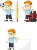 Customizable maskot 14 för röd manlig elevrepresentant Royaltyfria Foton