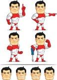 Customizable maskot 4 för Superhero Arkivfoton