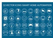 Customizable symboler för infographics angående smart hem- automation Arkivfoto