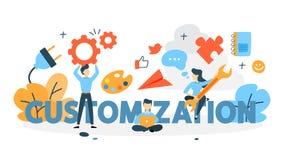 Customizationbegreppsillustration royaltyfri illustrationer