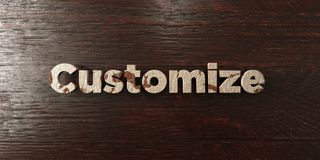 Customize - grungy wooden headline on Maple  - 3D rendered royalty free stock image Royalty Free Stock Images