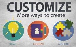Customize Ideas Identity Individuality Innovation Personalize Co Royalty Free Stock Image