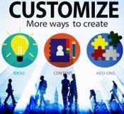 Customize Ideas Identity Individuality Innovation Personalize Co Stock Photos
