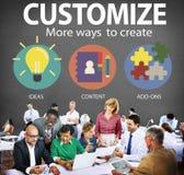 Customize Ideas Identity Individuality Innovation Personalize Co Royalty Free Stock Photo