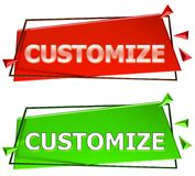 Customize sign Stock Image