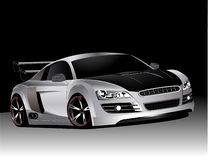 Customized audi r8  Royalty Free Stock Photos