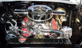 Customized car engine. Closeup of customized high performance car engine Royalty Free Stock Images