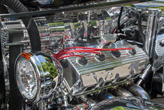 Customized engine compartment Stock Images
