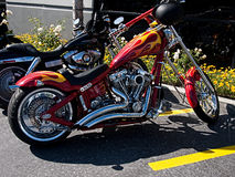 Customized Harley Davidson motorcycle Stock Photos