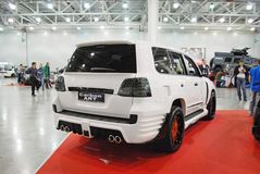 The customized Lexus LX car 570 URJ200 at an exhibition in `Crocus Expo`, 2012. Moscow Stock Image