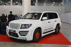 The customized Lexus LX car 570 URJ200 at an exhibition in `Crocus Expo`, 2012. Moscow Royalty Free Stock Images