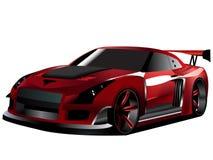 Customized nissan GTR turbo drifting. Vectorized illustration of customized GTR nissan concept Japanese drifter D formula Stock Photos