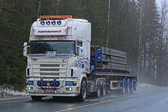 Free Customized Super Scania Semi Hauls Concrete Royalty Free Stock Images - 85148229