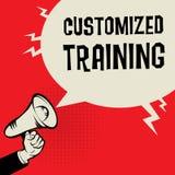 Customized Training business concept. Megaphone Hand business concept with text Customized Training vector illustration Royalty Free Stock Photos
