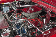 Customized V8 engine compartment Royalty Free Stock Photography