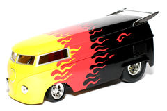 Customized VW Drag Bus scale car Stock Image