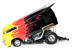 Customized VW Drag Bus scale car #2 royalty free stock images