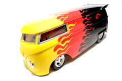 Customized VW Drag Bus scale car fisheye #2 Stock Image