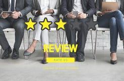 Customre反馈评论表决回顾结果概念 免版税库存照片