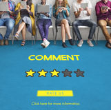Customre Feedback Comment Vote Review Results Concept.  Stock Photo