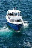 Customs boat Stock Image