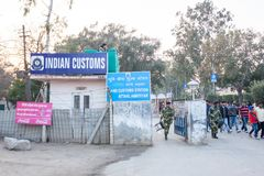 A customs building in Amritsar, India. A customs building sits on the border with Pakistan in Amritsar, India stock image