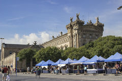 Customs building and market Stock Image