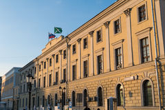 Customs building in Moscow on Komsomolskaya Square. 2016 royalty free stock photography
