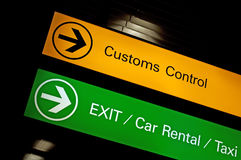 Free Customs Control Sign. Royalty Free Stock Photo - 27717355