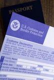 Customs declaration Royalty Free Stock Photos