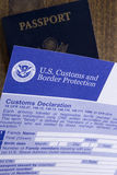 Customs declaration Royalty Free Stock Image