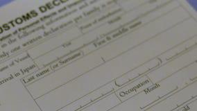 Customs deklaraci forma zbiory wideo