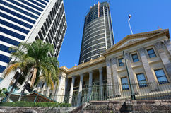 Customs House - Brisbane Queensland Australia. BRISBANE, AUS - SEP 26 2014:Brisbane Customs House under the Aurora Tower.Customs House is one of the most famous Stock Images