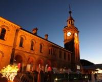 Customs House - Newcastle Australia. Illuminated night image of one of Newcastle's famous landmarks royalty free stock image