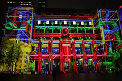 Customs House Sydney during Vivid Sydney Royalty Free Stock Image