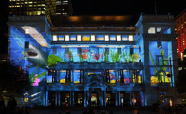 Customs House with underwater theme Vivid Sydney Stock Photos