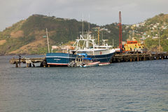 The customs jetty at kingstown, st. vincent Royalty Free Stock Images