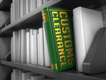 Customs odprawa - tytuł zieleni książka obraz royalty free