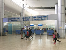 Customs and passport control at Cam Ranh International Airport, Royalty Free Stock Image
