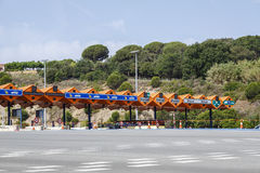 Customs toll road royalty free stock image