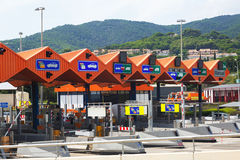 Customs toll road in Catalonia Stock Image